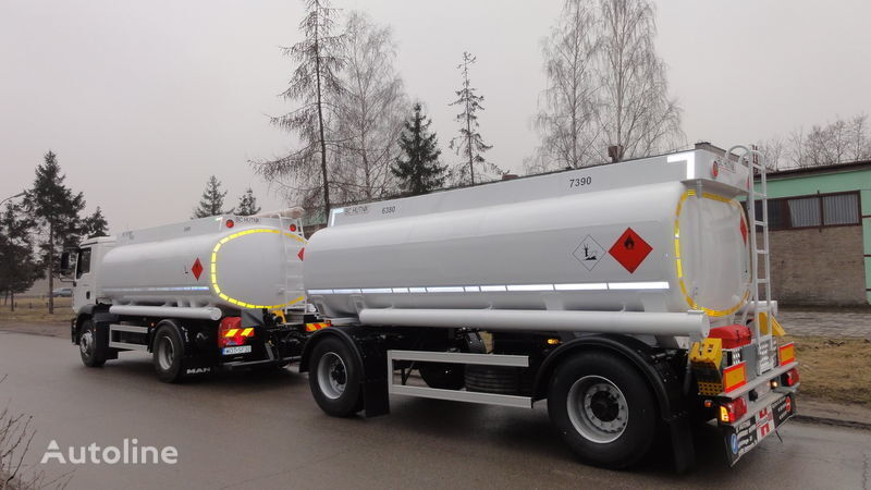 SCANIA DAF,MAN,VOLVO,MB camion de carburant neuf + remorque bâchée