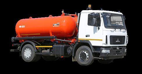 MAZ Vakuumnaya mashina KO-523 camion aspirateur