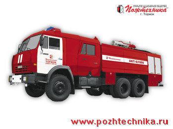 KAMAZ AKT-6/1000-80/20 Avtomobil kombinirovannogo tusheniya   camion-citerne d'incendie