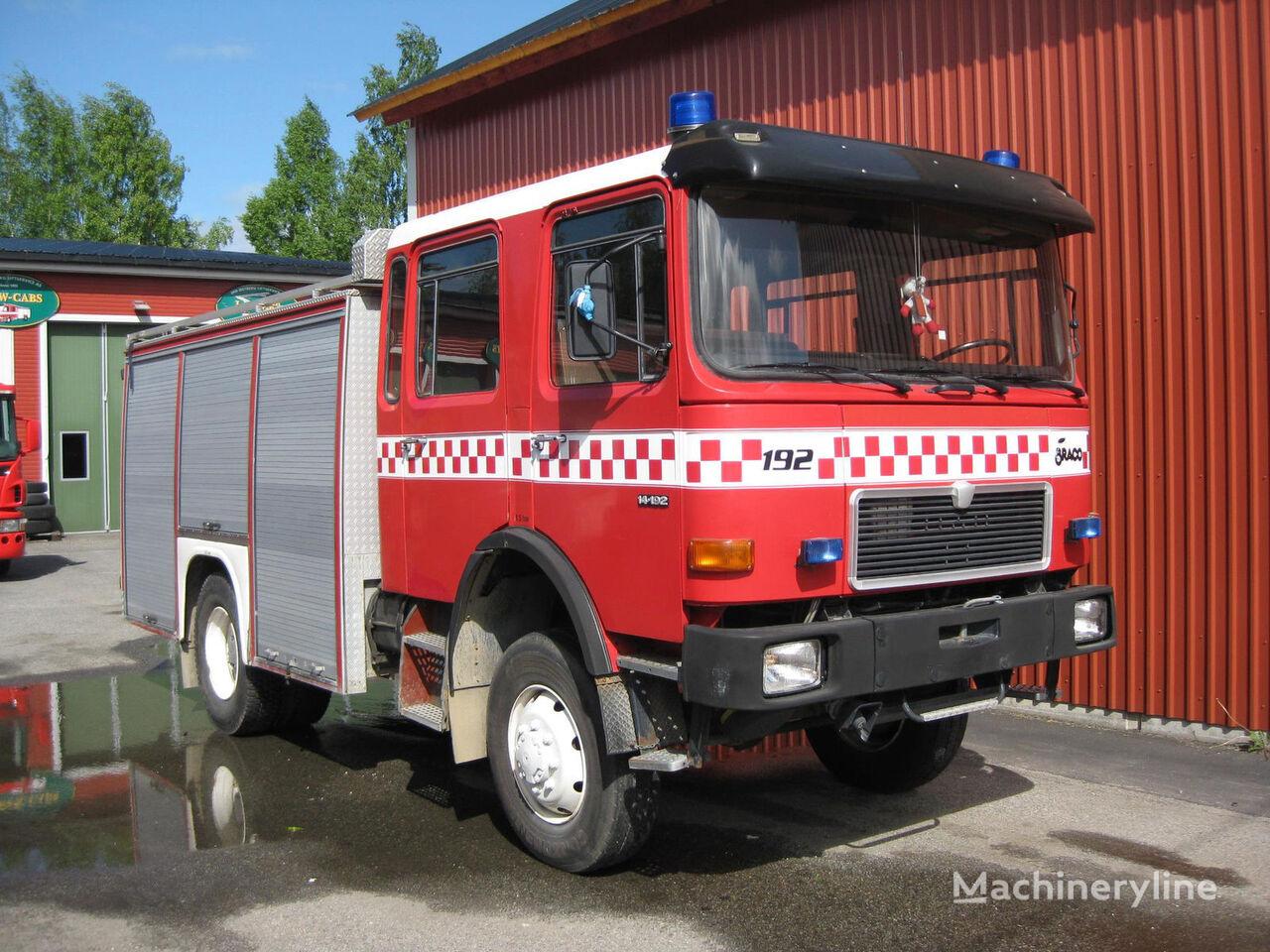 MAN 14-192, 4x4 WD camion-citerne d'incendie