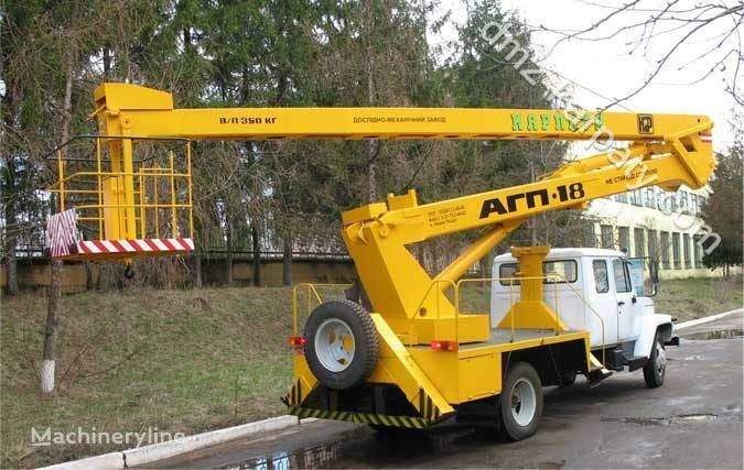GAZ Avtogidropodemnik AGP-18 (Avtovyshka) camion nacelle