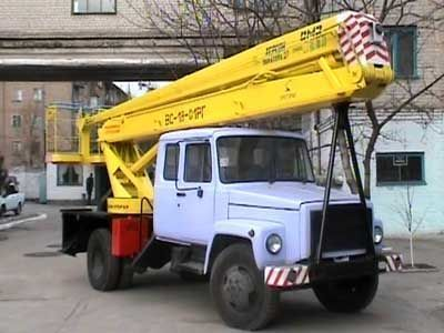 GAZ VS—18 Podemnik VS—18 s 5ti mestnoy kabinoy  camion nacelle
