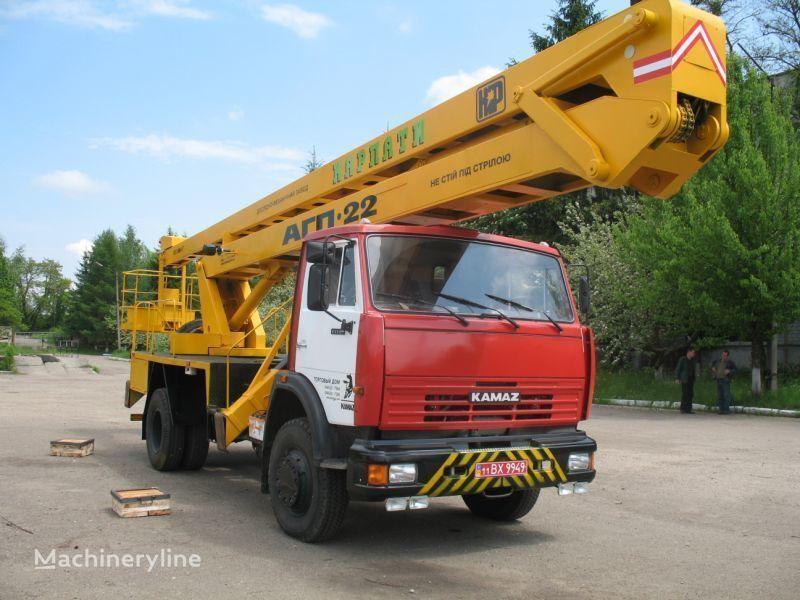 KAMAZ Avtogidropodemnik AGP-22 (Avtovyshka) camion nacelle