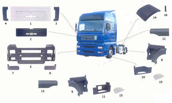 81615100399. 81615100401,81615100400 marchepied pour MAN TGA camion neuf