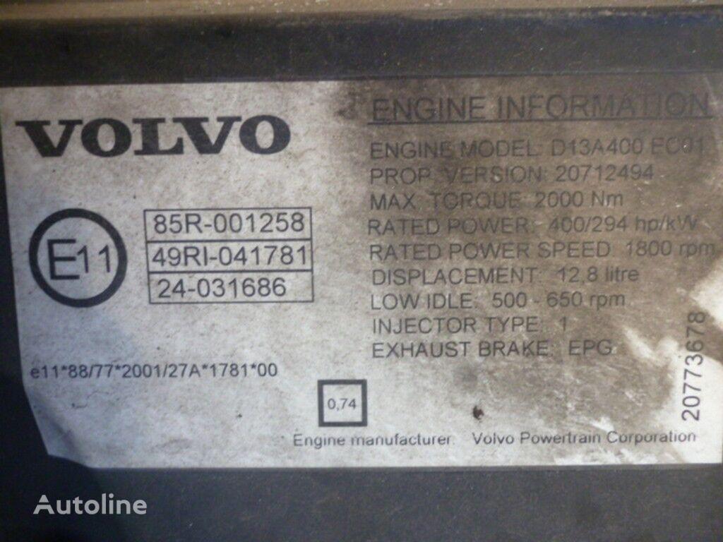 Volvo D13A400 EC01 moteur pour VOLVO camion