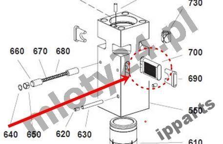 pièces de rechange pour MONTABERT 1200 klin zabezpieczenie grot nie Ramer autre matériel TP