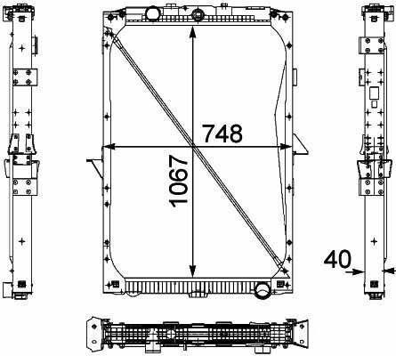1674136. 1692332. 1739550 .1856628. 8MK376 733-7111861737. 1861737R radiateur de refroidissement pour DAF XF95.105XF camion neuf