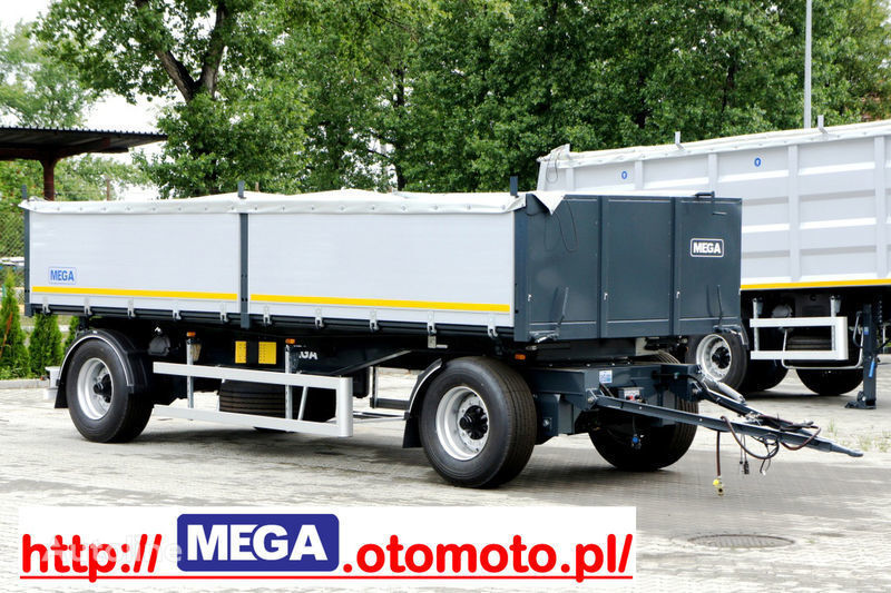 MEGA 3 x way dump / 2 axel / alu bort / grainhole remorque benne neuf