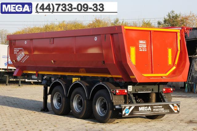 KARGOMIL 25 - 28 m³ HALF-PIPE / steel tipper - DOMEX 5/7 mm / SUPER STRON Semi-remorque benne neuf