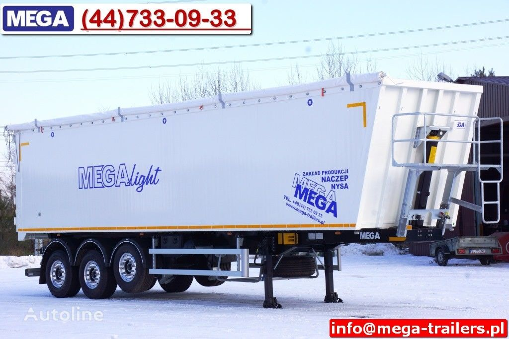 MEGA 10,4 m / 60 M³ ALUM TIPPER SUPER LIGHT 6,2 T ! READY & NEW ! Semi-remorque benne neuf
