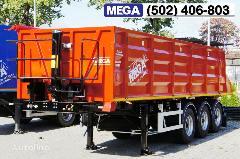 MEGA 28/8360 kcc - camosval 30 kub.m., pama k tyagachu 6x4, klapan! Semi-remorque benne neuf