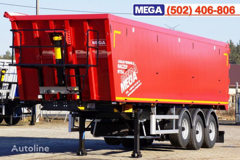 MEGA 45 m³ - alum. tipper SUPER-LIGHT - 5,300 KG & hatch door - READY Semi-remorque benne neuf