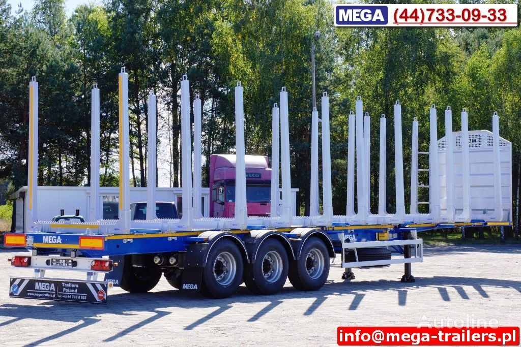 MEGA 10 U STANCHION - TIMBER SEMI-TRAILER/HOLZAUFLIEGER- READY ! BERE semi-remorque forestiere neuf