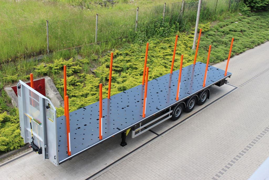 ZASLAW TRAILIS 651.NL.13.PK[without stakes] semi-remorque forestiere neuf