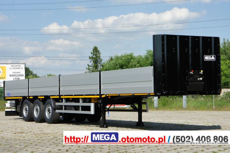 MEGA MNS 22,5 - PLATFORM & ALUSIDES 800 MM /  STRONG  FRAME DOMEX650 semi-remorque plateau neuf