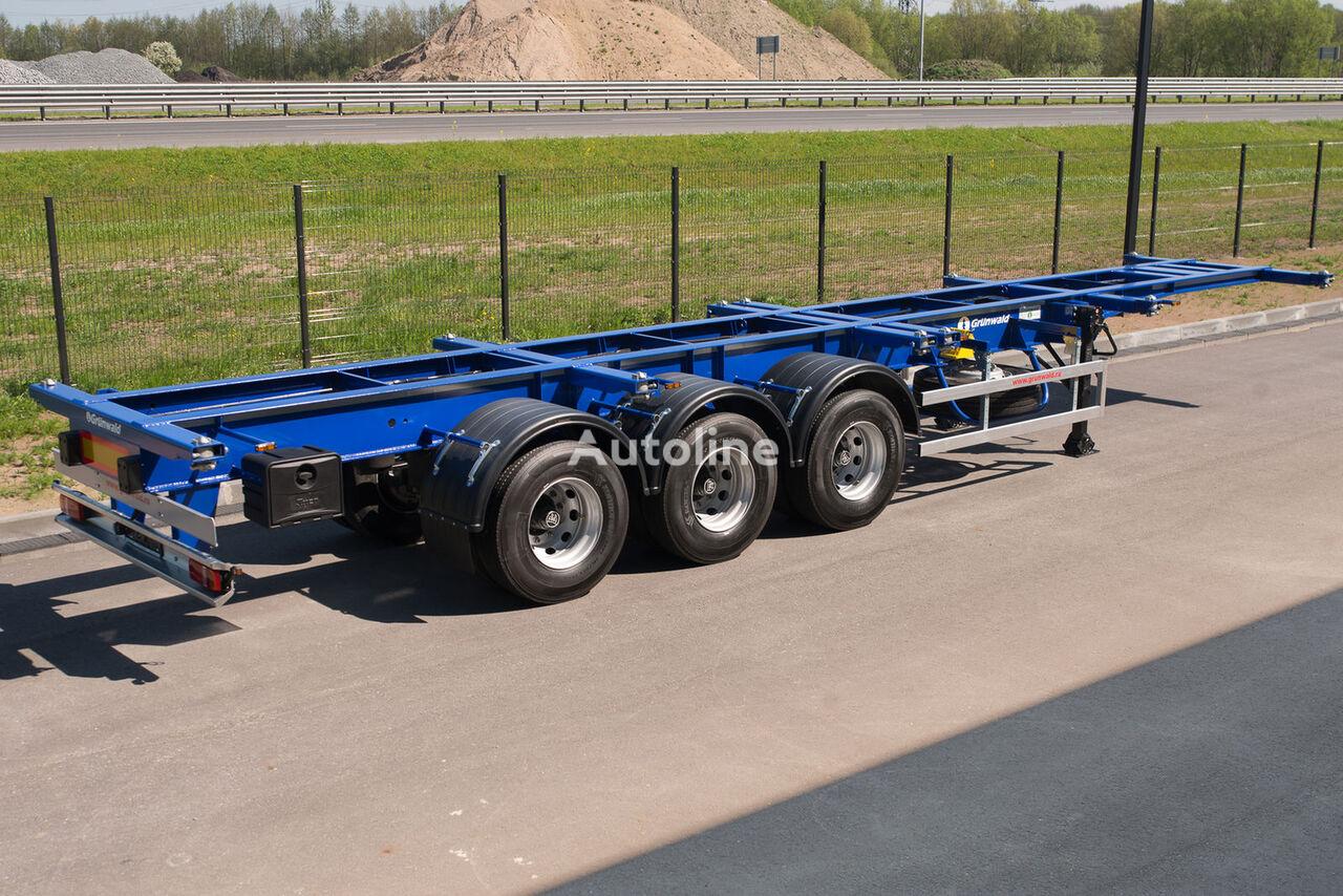 GRUNWALD Versatile heavy duty container semitrailer semi-remorque porte-conteneur neuf