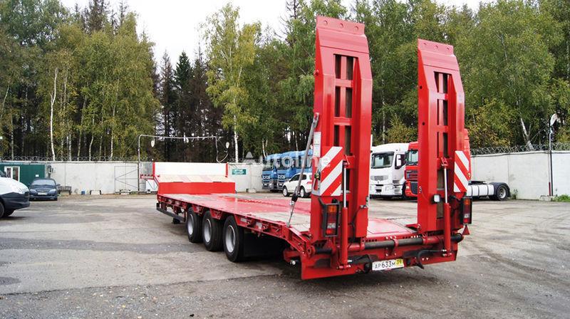 GRUNWALD Triaxial low bed semitrailer semi-remorque porte-engins neuf