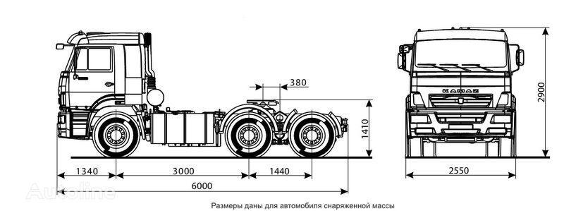 KAMAZ 6460 (6h4) tracteur routier