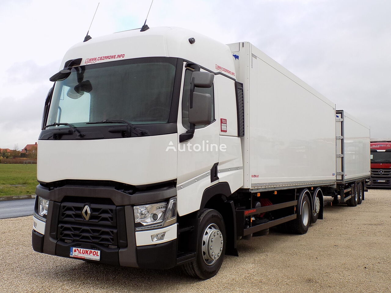 RENAULT T430 EURO 6 - ZESTAW TANDEM PRZEJAZDOWY - ALL NEW !! camion isotherme + remorque isotherme