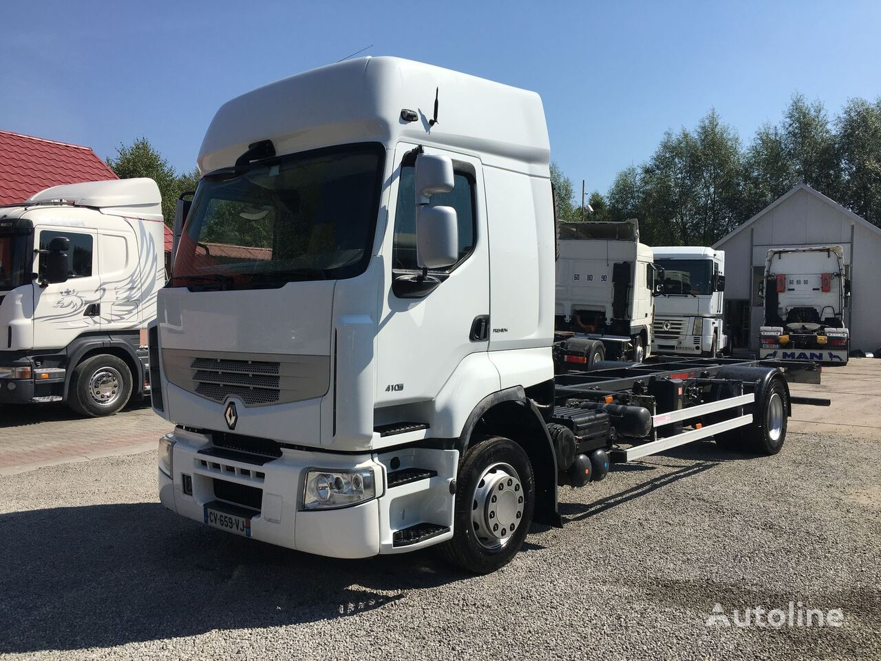 Vente des camions porte conteneurs renault premium 410 dxi for Porte conteneur
