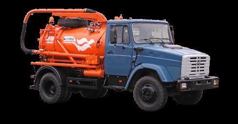 ZIL Ilososnaya mashina KO-510D camion aspirateur