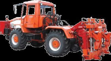 Universalnaya putevaya mashina UPM-1M na baze traktora HTA-200  tracteur à roues