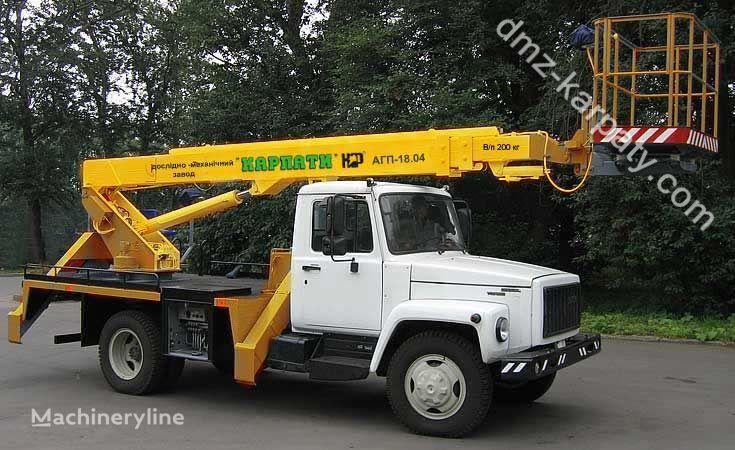 GAZ Avtogidropodemnik AGP-18.04 (Avtovyshka teleskopicheskaya) camion nacelle