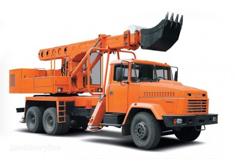 KRAZ 65053 UDS-114R Avtoekskavator-planirovshchik  pelle télescopique