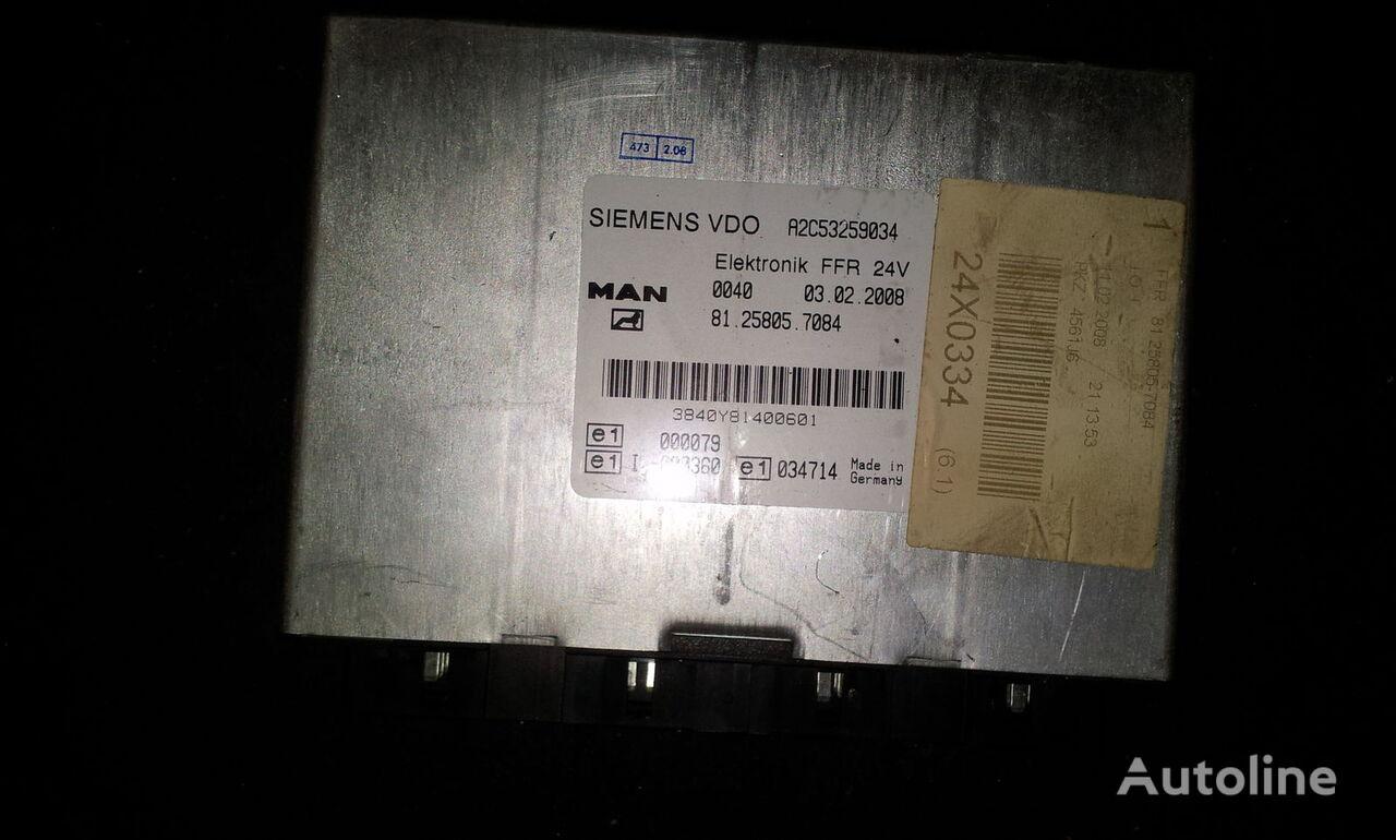 MAN FFR control unit, ECU, 81258057084, Siemens VDO, 81258057084, 81258057088, 81258057081, 81258057082, 81258057083, 81258057084, 81258057087, 81258057089, 81258057088 boîte de commande pour MAN TGX tracteur routier