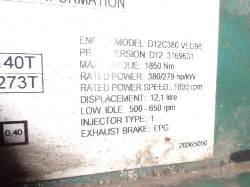 VOLVO D12C 380 HP engine computer EDC 20365050 ECU, 3169631, 3161952, 20412506, 3161962, 20577131, 20582958, 85111405, 85107712, 85103340, 3099133, 8500011, 85000086, 85000388, 85000846, 8113577, 85111405, 8113577, 3099133 boîte de commande pour VOLVO FH12 camion