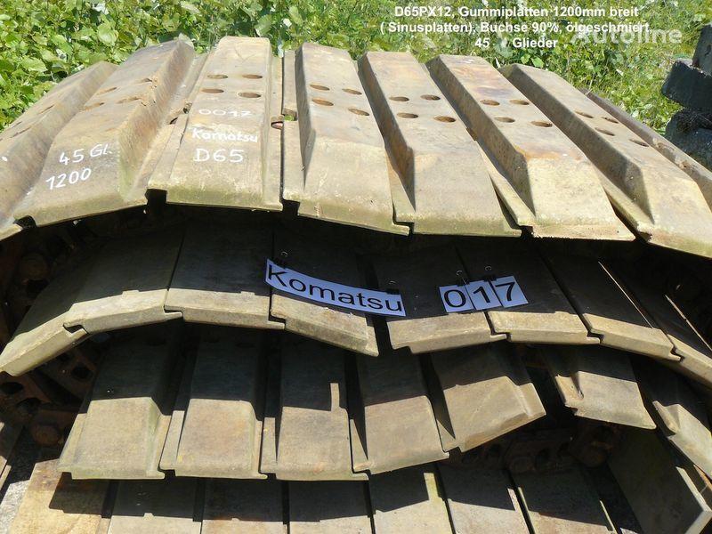 Kette mit Sinus- Gummiplatten für D65PX chenille caoutchouc pour excavateur