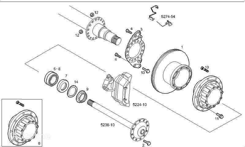 2995812 2996328 7185503 7189476 disque de frein pour IVECO STRALIS camion neuf