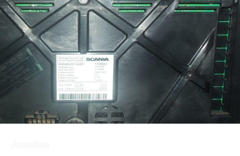 Scania R series instrument panel, instrument cluster, dashboard, 1725842 instrument cluster, 1507322, 1545985, 1545989, 1545993, 1763551, 1765222, 1849503, 1852891 planche de bord pour SCANIA R tracteur routier