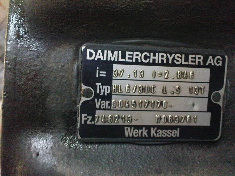 Mercedes HL6  ,40/13,37/13, pont pour MERCEDES-BENZ AXOR,ACTROS tracteur routier