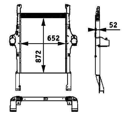 BEHR HELLA IVECO 41214448.8ML 376 724-251 radiateur de refroidissement pour IVECO STRALIS tracteur routier neuf