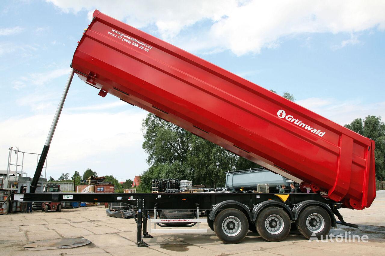 GRUNWALD Tipper semitrailer 50 cbm Semi-remorque benne neuf