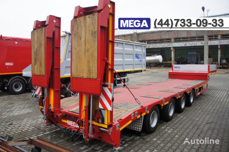 MEGA 4 AXEL FLATBED / HYDRAULIC RAMPS / UP TO 45 T! semi-remorque porte-engins neuf