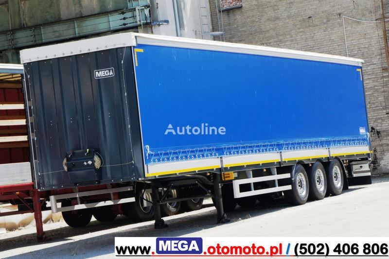 MEGA 3 AXEL CURTAINSIDER / ALUSIDES H=600 MM/ READY !  semi remorque rideaux coulissants (plsc) neuf