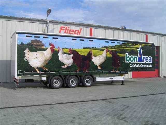 FLIEGL SDS 350 Geflugel semi-remorque transport de volaille neuve
