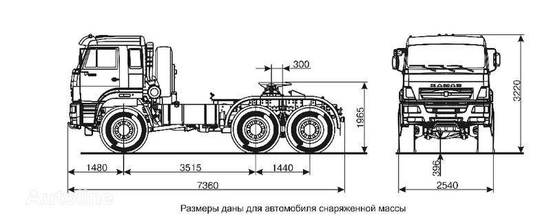 KAMAZ 65221  tracteur routier