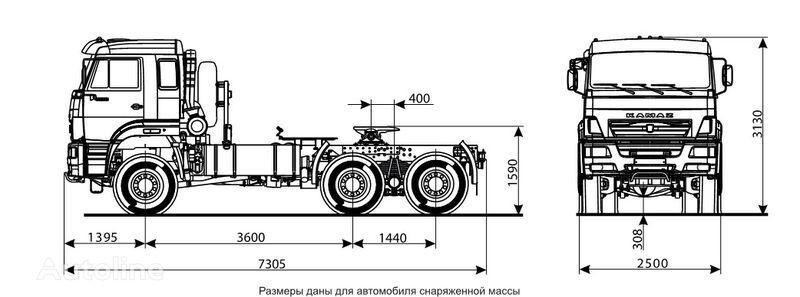KAMAZ 65225 tracteur routier