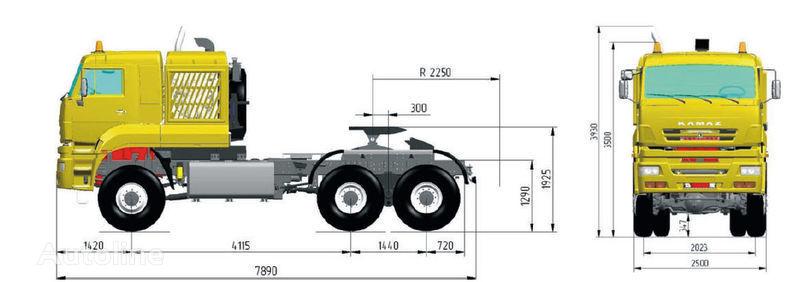 KAMAZ 65226 (6h6) tracteur routier
