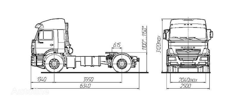 KAMAZ Sedelnyy tyagach KAMAZ-5460 tracteur routier