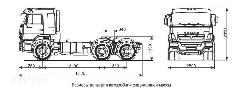 KAMAZ Sedelnyy tyagach KAMAZ-65116 (6h4) tracteur routier